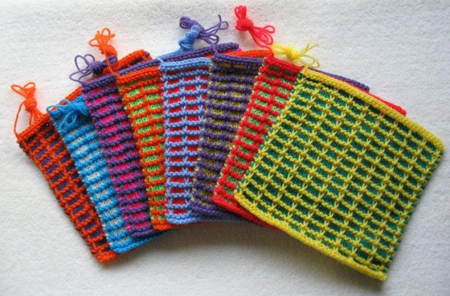 Knitted Squares. High demand Charity items. (Photo courtesy of knit-a-square.com)
