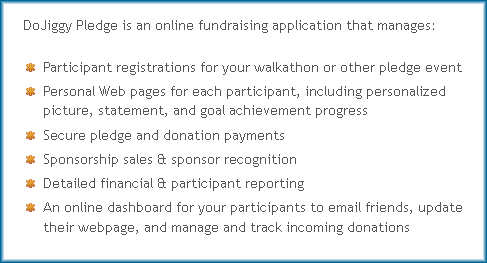 Relay for Life Fundraising through Pledges. DoJiggy's Pledge service explained.