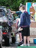 A Car Wash Fundraiser is a novel but consistantly successful fundraising idea. Learn how... (Photo by Pat Williams / Flickr)