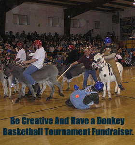 Be creative with your Basketball Tournament Fundraiser and have a Donkey Tournament... Or include it in your event! (Photo by Peggy Davis / Flickr)