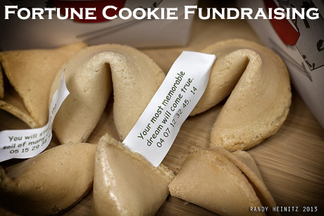 Fortune Cookie Fundraising: A fun, simple food fundraising idea that lends an opportunity to market your cause or it's events etc, further! (Photo by Randy Heinitz / Flickr)
