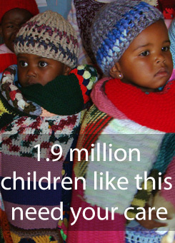19 Million Children like this need your care! Read more in this interview with Sandy McDonald.