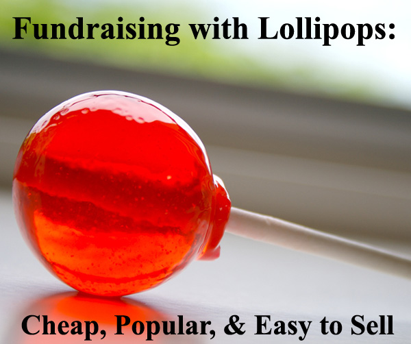 A Lollipop Fundraiser is an easy-to-sell fundraising product that people love. They're cheap and popular. And they have the potential of bringing in great funds. (Photo by Ana Ulin / Flickr)