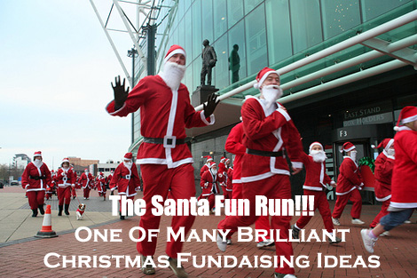 A Santa Fun Run is a super fun fundraising event for the Christmas Season, and can raise some superb funds. (Photo by Howard Lake / Flickr)