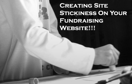 Here are some fantastic ideas for creating site stickiness on your nonprofit or fundraising website! (Photo by Woodleywonderworks / Flickr)