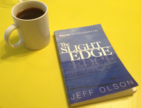 My worn down copy of the Slight Edge from too much reading! Learn how to apply this excellent principle and book to your fundraising to increase your success.