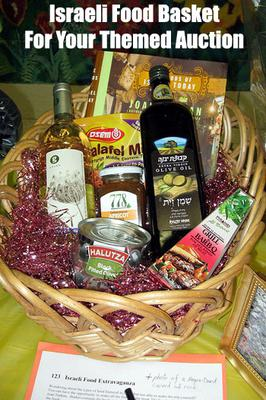Israeli Food Basket! A Themed Basket Auction is a brilliant fundraising idea, especially for schools etc. (Photo by Alan Kotok / Flickr.com)