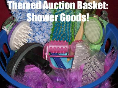 A Themed Shower Goods Auction Basket! A Themed Basket Auction is a brilliant fundraising idea, especially for schools etc. (Photo by Alisha Vargas / Flickr.com)