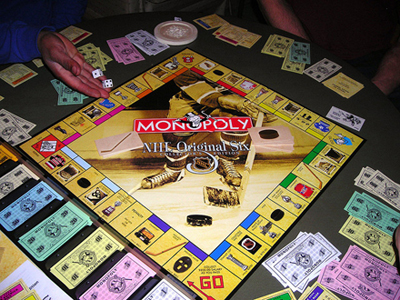 Custom Monopoly Fundraising. Also known as Town-opoly. Check it out... (Photo by Jono Martin / Flickr)