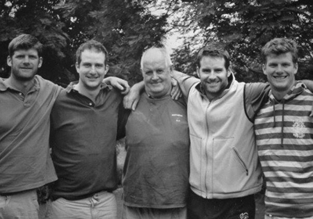 My Father with his four sons!