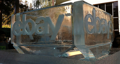 WOW! An eBay Logo Ice Sculpture! But more importantly some super fundraising ideas for using off eBay. (Photo by Jenny Cu / Flickr)