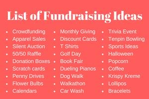 rewarding fundraising ideas the best fundraisers tips