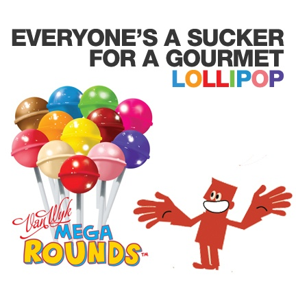 Mega-Round Gourmet Lollipops for Fundraising. A cheap and very popular product that you can sell quickly!