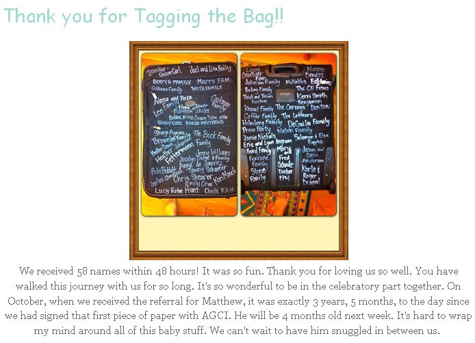 The Besk Family Tag the Bag Fundraising Story