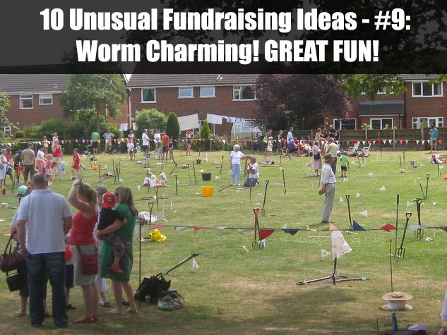 Fundraising idea number 9 from these incredible 10 Unusual Fundraising Ideas: WORM CHARMING! (Photo by Lois Lindemann / Flickr)
