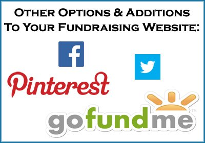 Here are the best options and additions to a fundraising website.